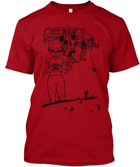 Vantana Row : Kids These Days (Code Red) Deep Red T-Shirt Front