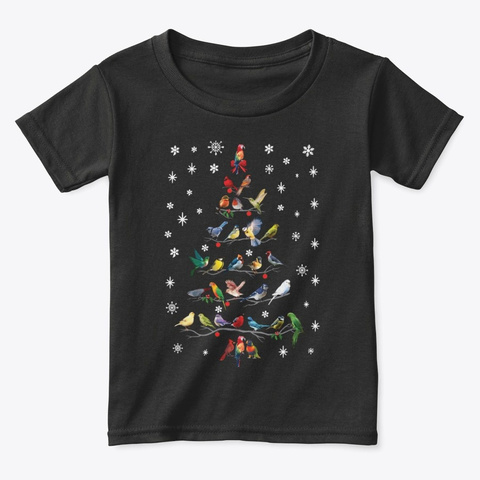 Bird Christmas Tree Funny T Shirt 2020 Black T-Shirt Front