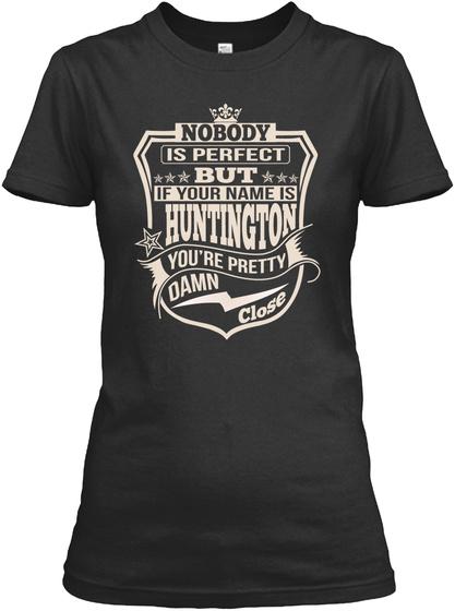 Nobody Perfect Huntington Thing Shirts Black T-Shirt Front