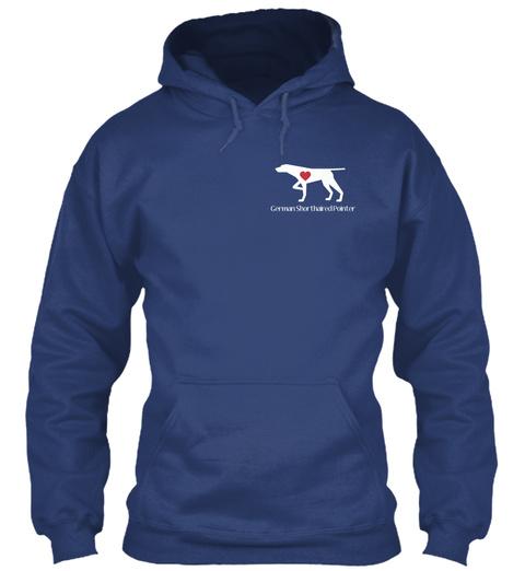 German Shorthaired Pointer Airforce Blue Sweatshirt Front