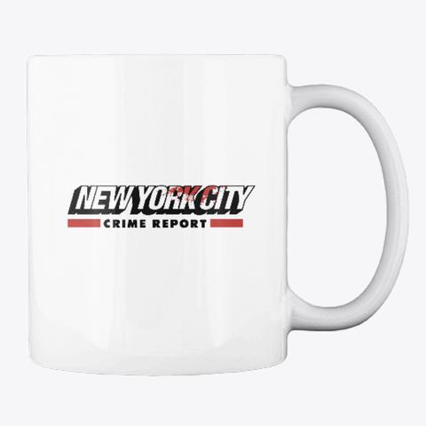 New York City Crime Report Classic Line White T-Shirt Back