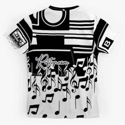 Retro Cool Audio Cassettes Standard T-Shirt Back