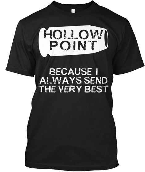 Hollow Point Black T-Shirt Front