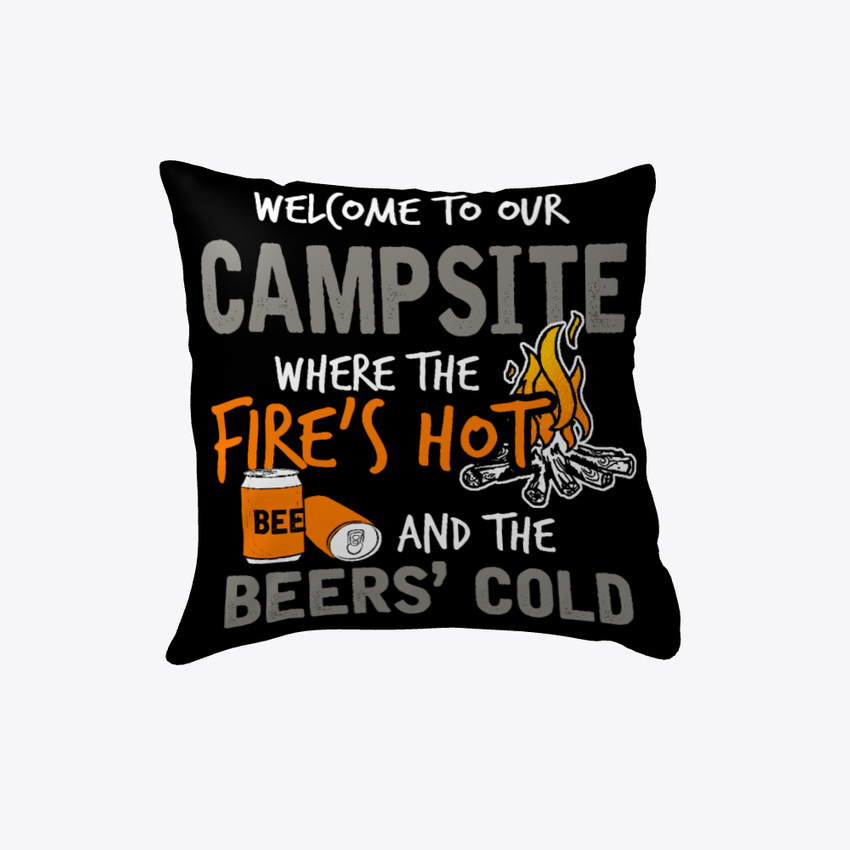Welcome-To-Our-Campsite-Camping-Gift-Pillow thumbnail 5