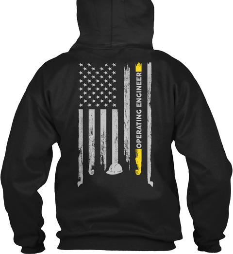 Operating Engineer Black T-Shirt Back