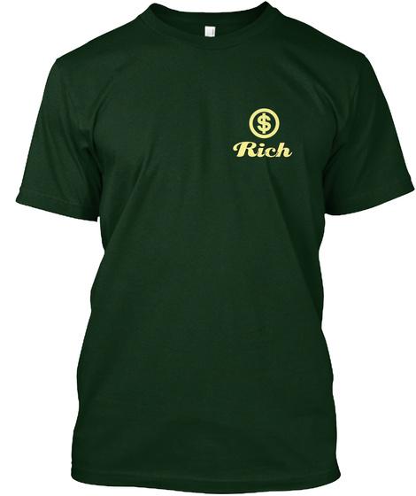Rich Forest Green T-Shirt Front