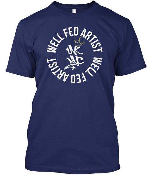 Well Fed Artist Well Fed Artist Midnight Navy T-Shirt Front