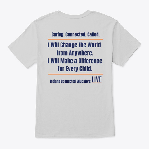 In Connected Ed Live Merch Light Steel T-Shirt Back
