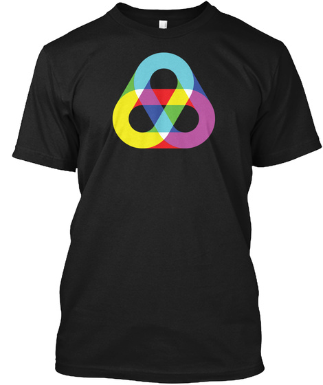 Rgb Loops Black T-Shirt Front