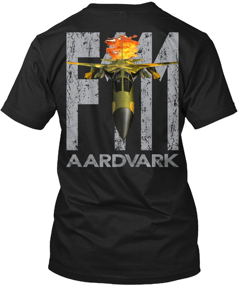F 11 Aardvark Black T-Shirt Back