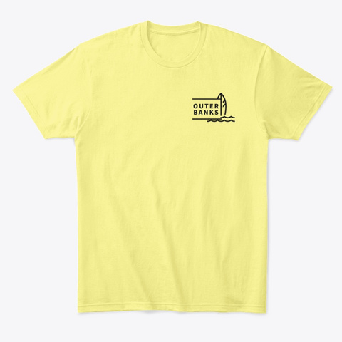 #Surf Outer Banks Lemon Yellow  T-Shirt Front