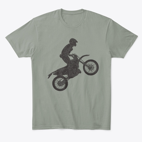 Pop A Wheelie Grey T-Shirt Front