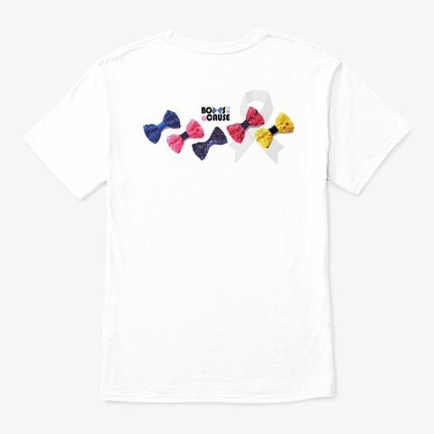 Bows For A Cause By Twist By Vee White T-Shirt Back