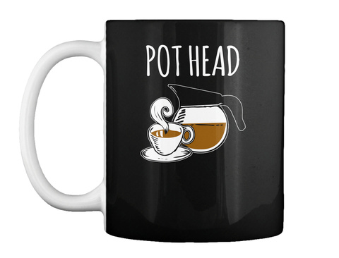 Pot Head Black Mug Front