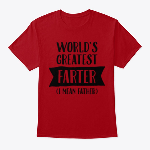 World's Greatest Father Deep Red T-Shirt Front