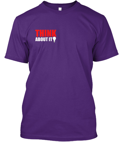 Get A Shirt And Help Support Real News  Purple T-Shirt Front