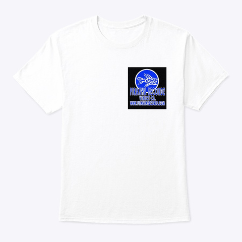 Piranha Recordz Logo Shirt White T-Shirt Front