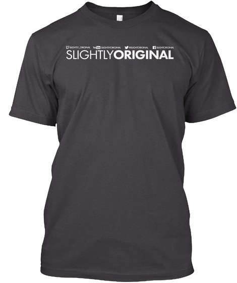 Slightly Original Social  Heathered Charcoal  T-Shirt Front