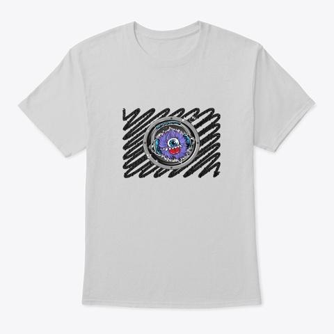 Music Monster Light Steel T-Shirt Front