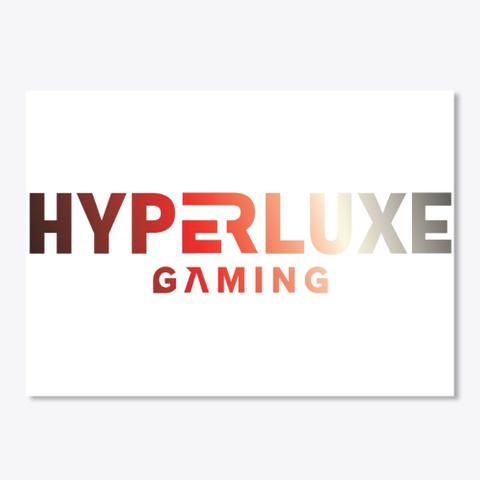 Hyperluxe Gamer Og Line White T-Shirt Front