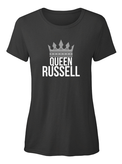 Russell   Simply Queen Russell Black T-Shirt Front