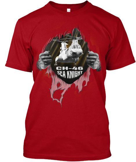 Ch 46 Sea Knight Deep Red T-Shirt Front