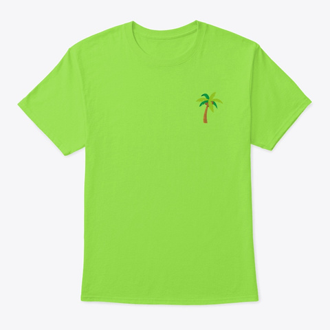 Palm Lime T-Shirt Front