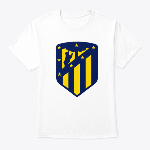 Atletico Madrids White T-Shirt Front