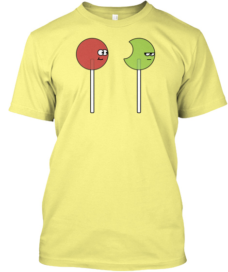 Lollipop Guys Lemon Yellow  T-Shirt Front