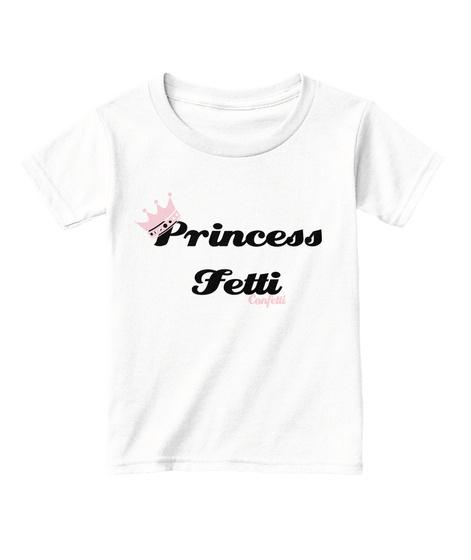 Princess Fetti Confetti White  T-Shirt Front