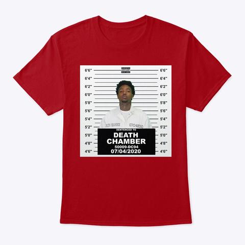 Official Death Chamber Merch Deep Red T-Shirt Front