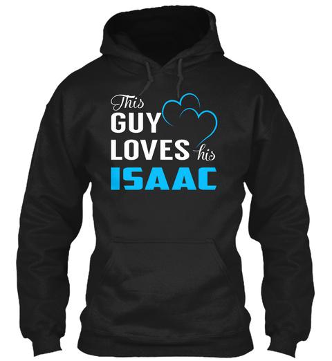 Guy Loves Isaac   Name Shirts Black T-Shirt Front