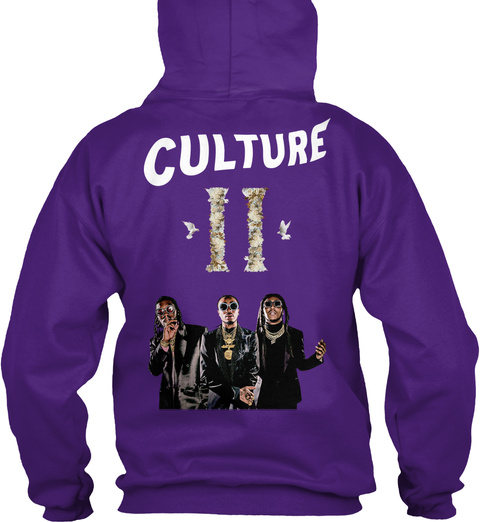 Official Migos Culture 2 Shirts Purple Sweatshirt Back
