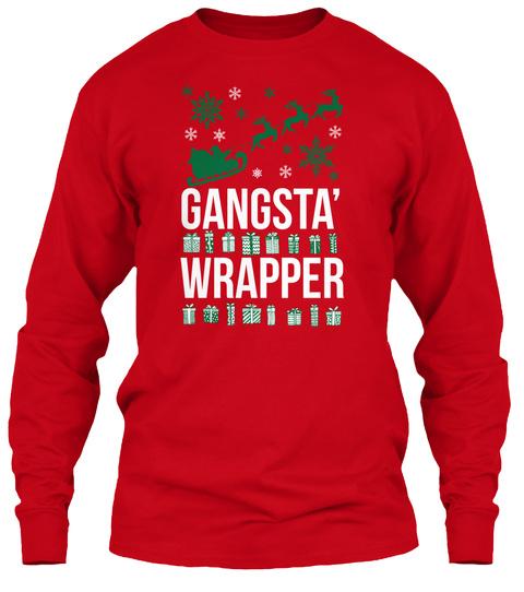 Gangsta Wrapper Red T-Shirt Front