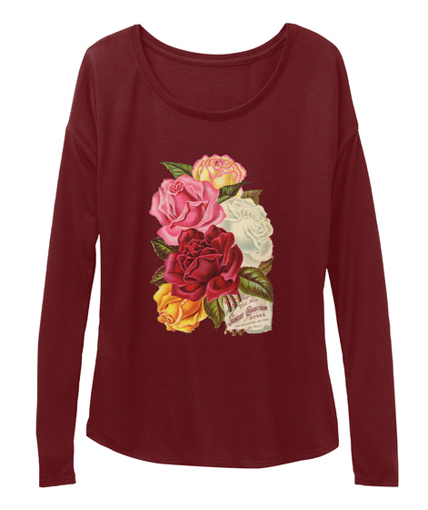 Sunset Collection Maroon Long Sleeve T-Shirt Front