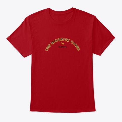 The Maverick Camel Label Deep Red T-Shirt Front