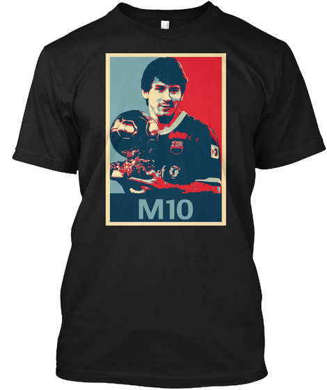 M10 Hope Poster Shirt Black T-Shirt Front