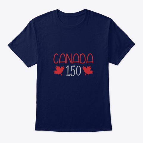 Canada 150 Navy T-Shirt Front