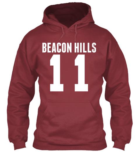 Beacon Hills Maroon T-Shirt Front