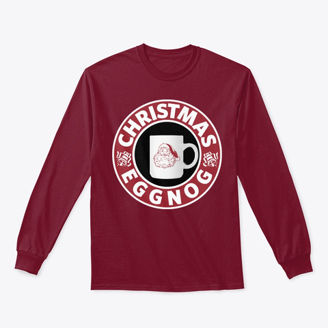 Christmas Eggnog Lover Christmas Gift  Cardinal Red T-Shirt Front