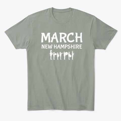 March New Hampshire Marching Band Pride Grey T-Shirt Front