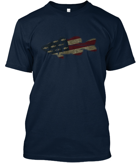 Cfodt Flatline Fish Flag New Navy T-Shirt Front