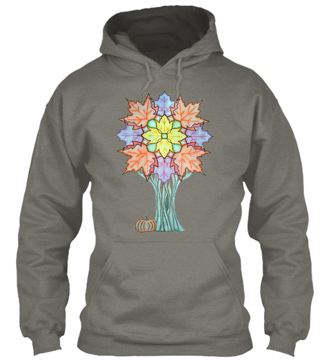 Autumn Mandala Tree Charcoal Sweatshirt Front