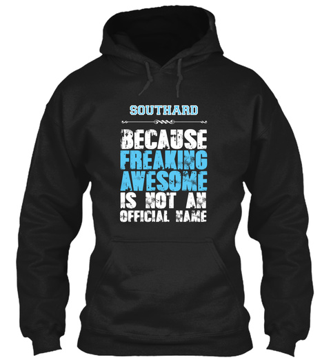 Southard Is Awesome T Shirt Black T-Shirt Front