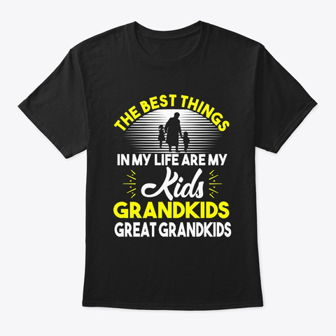 The Best Things In My Life Are My  Black T-Shirt Front