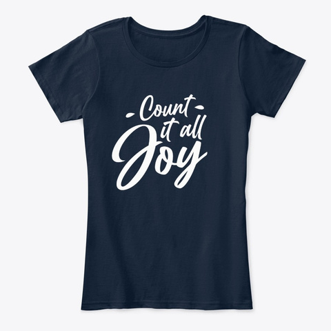 Count It All Joy New Navy T-Shirt Front