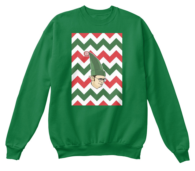 The Office Christmas Sweater.Dwight Schrute Elf Christmas Sweater
