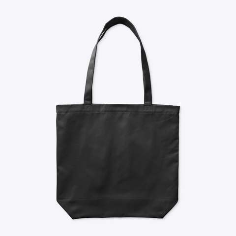 Organic Tote Bag: Sisu Sign Black T-Shirt Back