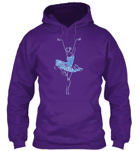 Hoodie Ballet Tutu Dancer Purple T-Shirt Front