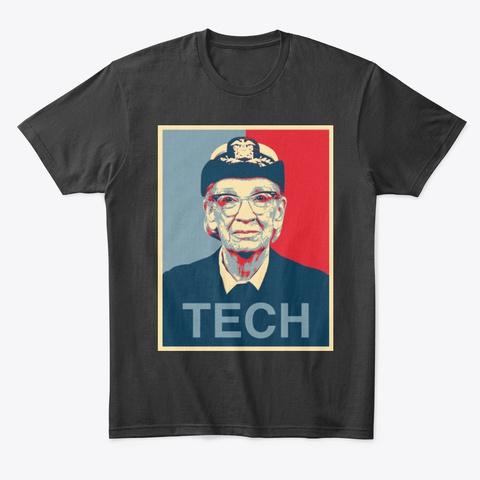 Cool Grace Hopper Election Art Design Black T-Shirt Front